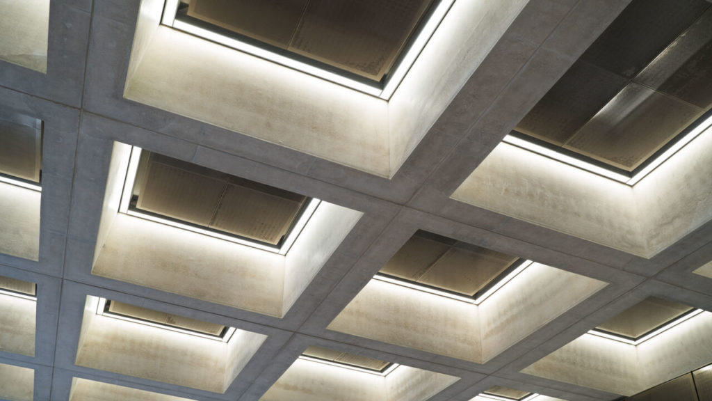 Close up of ceiling light fittings