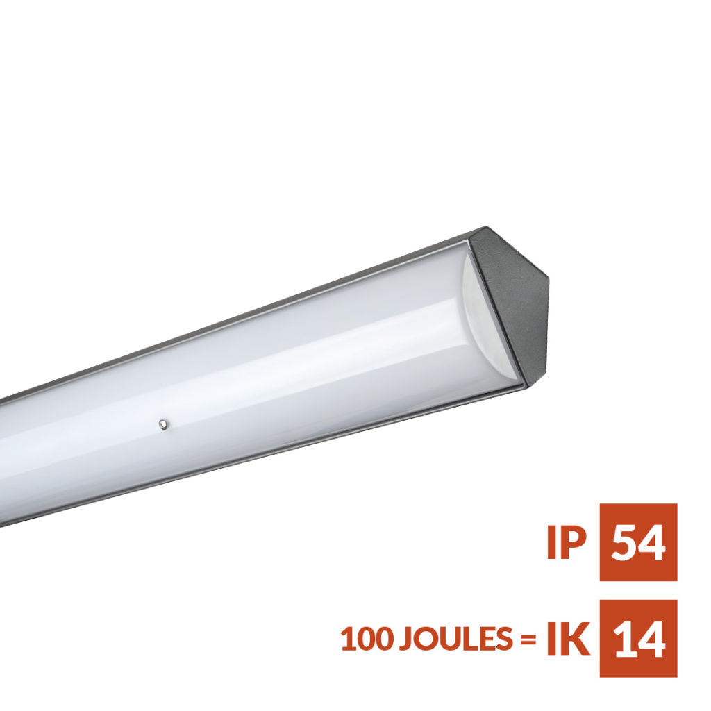 Parkalux Angled Versatile vandal and weather resistant linear fitting