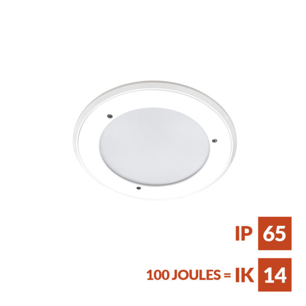 RDL anti-ligature Recessed downlight suitable for secure accommodation