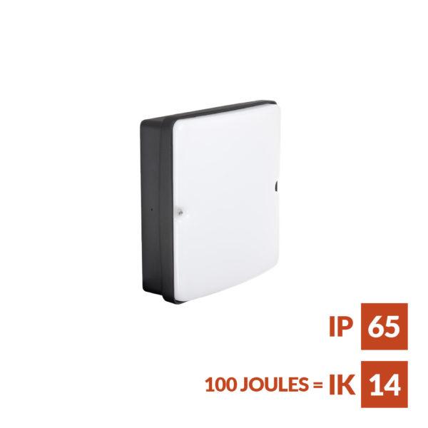 SquareCore Slim square bulkhead fitting for interior or exterior applications