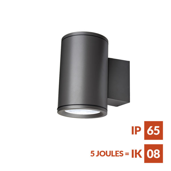 Terminus Wall S12 Decorative cylindrical fitting for wall mounted applications