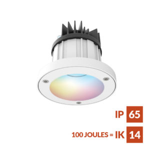 RGBW LED anti-ligature Downlight