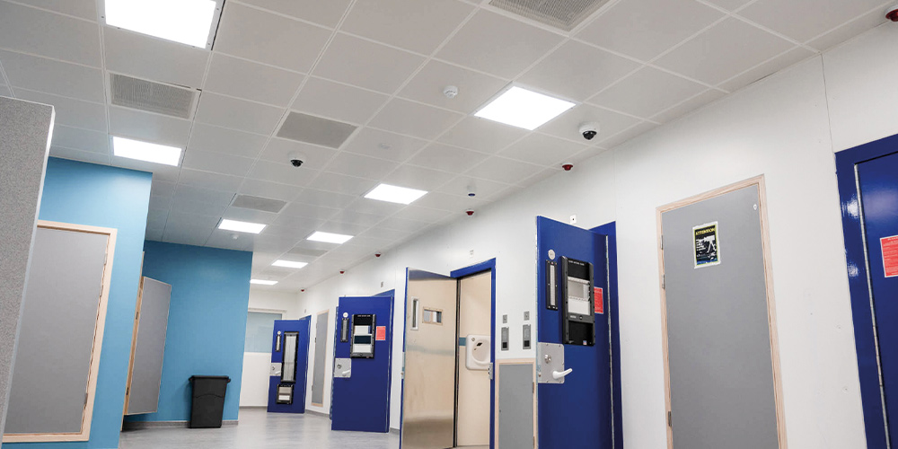 Lighting for Police Stations & Law Courts